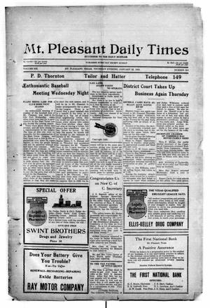 Primary view of object titled 'Mt. Pleasant Daily Times (Mount Pleasant, Tex.), Vol. 6, No. 321, Ed. 1 Thursday, January 22, 1925'.