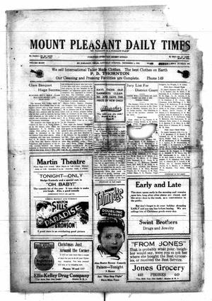Primary view of object titled 'Mount Pleasant Daily Times (Mount Pleasant, Tex.), Vol. 8, No. 229, Ed. 1 Saturday, December 4, 1926'.