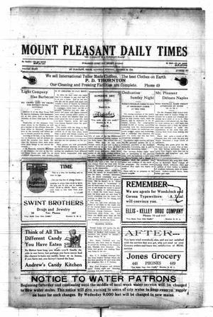Primary view of object titled 'Mount Pleasant Daily Times (Mount Pleasant, Tex.), Vol. 8, No. 201, Ed. 1 Saturday, October 30, 1926'.