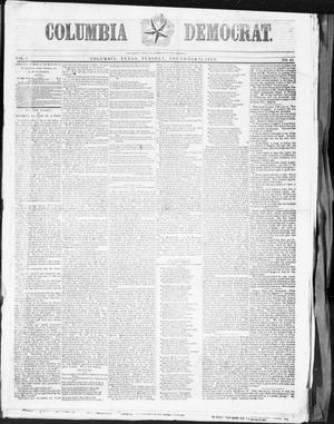 Primary view of object titled 'Columbia Democrat (Columbia, Tex.), Vol. 1, No. 43, Ed. 1, Tuesday, November 15, 1853'.