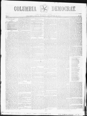 Primary view of object titled 'Columbia Democrat (Columbia, Tex.), Vol. 1, No. 45, Ed. 1, Tuesday, November 29, 1853'.