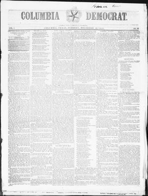 Primary view of object titled 'Columbia Democrat (Columbia, Tex.), Vol. 1, No. 48, Ed. 1, Tuesday, December 20, 1853'.