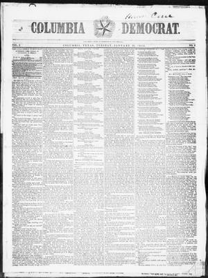 Columbia Democrat (Columbia, Tex.), Vol. 2, No. 2, Ed. 1, Tuesday, January 31, 1854