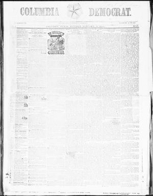 Primary view of object titled 'Columbia Democrat (Columbia, Tex.), Vol. 2, No. 47, Ed. 1, Tuesday, January 2, 1855'.