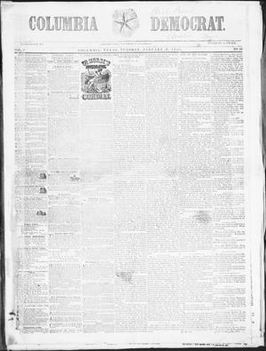 Primary view of object titled 'Columbia Democrat (Columbia, Tex.), Vol. 2, No. 48, Ed. 1, Tuesday, January 9, 1855'.