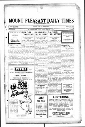 Primary view of object titled 'Mount Pleasant Daily Times (Mount Pleasant, Tex.), Vol. 11, No. 279, Ed. 1 Tuesday, February 11, 1930'.