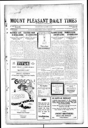 Primary view of object titled 'Mount Pleasant Daily Times (Mount Pleasant, Tex.), Vol. 11, No. 293, Ed. 1 Thursday, February 27, 1930'.