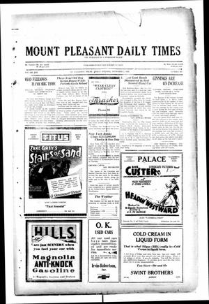 Primary view of object titled 'Mount Pleasant Daily Times (Mount Pleasant, Tex.), Vol. 10, No. 202, Ed. 1 Friday, November 1, 1929'.