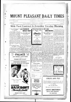 Primary view of object titled 'Mount Pleasant Daily Times (Mount Pleasant, Tex.), Vol. 10, No. 227, Ed. 1 Tuesday, December 3, 1929'.