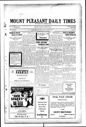 Primary view of object titled 'Mount Pleasant Daily Times (Mount Pleasant, Tex.), Vol. 12, No. 17, Ed. 1 Thursday, April 3, 1930'.