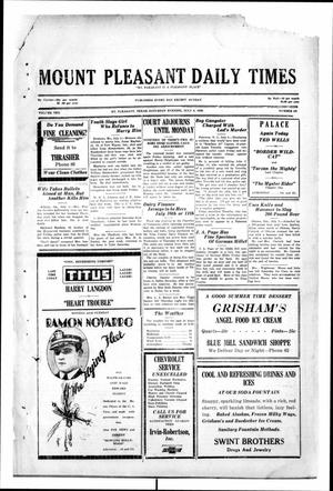 Primary view of object titled 'Mount Pleasant Daily Times (Mount Pleasant, Tex.), Vol. 10, No. 101, Ed. 1 Saturday, July 6, 1929'.