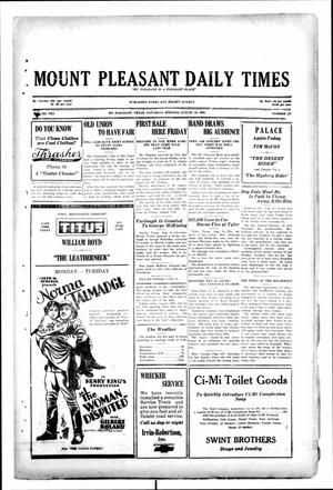 Primary view of object titled 'Mount Pleasant Daily Times (Mount Pleasant, Tex.), Vol. 10, No. 131, Ed. 1 Saturday, August 10, 1929'.