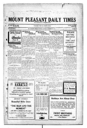 Primary view of object titled 'Mount Pleasant Daily Times (Mount Pleasant, Tex.), Vol. 11, No. 251, Ed. 1 Saturday, December 28, 1929'.