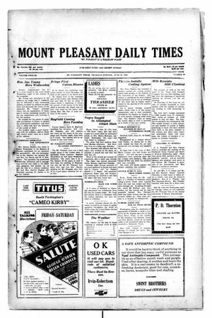 Primary view of object titled 'Mount Pleasant Daily Times (Mount Pleasant, Tex.), Vol. 12, No. 80, Ed. 1 Thursday, June 19, 1930'.
