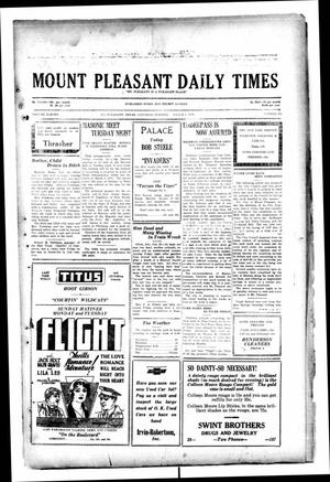 Primary view of object titled 'Mount Pleasant Daily Times (Mount Pleasant, Tex.), Vol. 11, No. 295, Ed. 1 Saturday, March 1, 1930'.