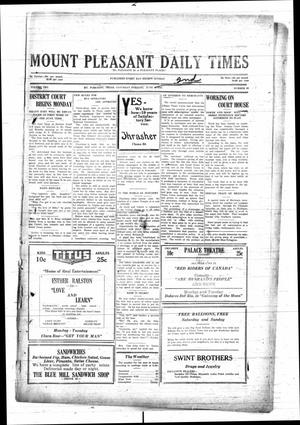Primary view of object titled 'Mount Pleasant Daily Times (Mount Pleasant, Tex.), Vol. 10, No. 93, Ed. 1 Saturday, June 2, 1928'.