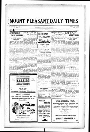 Primary view of object titled 'Mount Pleasant Daily Times (Mount Pleasant, Tex.), Vol. [10], No. 141, Ed. 1 Sunday, September 22, 1929'.
