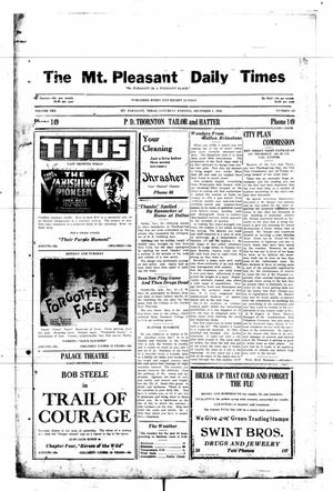 Primary view of object titled 'Mount Pleasant Daily Times (Mount Pleasant, Tex.), Vol. 10, No. 245, Ed. 1 Saturday, December 1, 1928'.