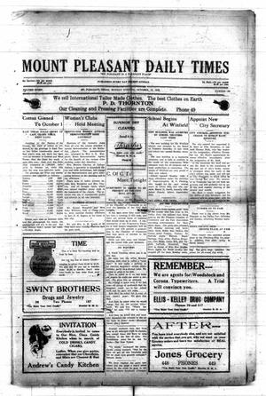 Primary view of object titled 'Mount Pleasant Daily Times (Mount Pleasant, Tex.), Vol. 8, No. 190, Ed. 1 Monday, October 18, 1926'.