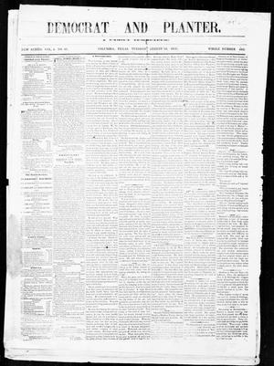 The Democrat and Planter (Columbia, Tex.), Vol. 4, No. 41, Ed. 1, Tuesday, August 16, 1859