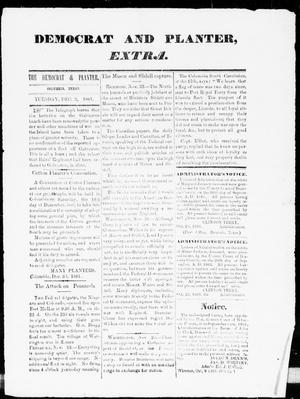 Primary view of object titled 'The Democrat and Planter Extra (Columbia, Tex.), Ed. 1, Tuesday, December 3, 1861'.