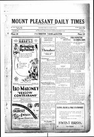 Primary view of object titled 'Mount Pleasant Daily Times (Mount Pleasant, Tex.), Vol. 10, No. 267, Ed. 1 Saturday, December 29, 1928'.