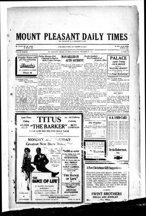 Primary view of object titled 'Mount Pleasant Daily Times (Mount Pleasant, Tex.), Vol. 11, No. 247, Ed. 1 Saturday, December 21, 1929'.