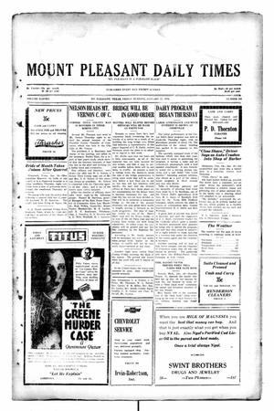 Primary view of object titled 'Mount Pleasant Daily Times (Mount Pleasant, Tex.), Vol. 11, No. 268, Ed. 1 Friday, January 17, 1930'.