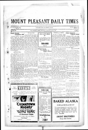 Primary view of object titled 'Mount Pleasant Daily Times (Mount Pleasant, Tex.), Vol. 10, No. 81, Ed. 1 Wednesday, June 12, 1929'.