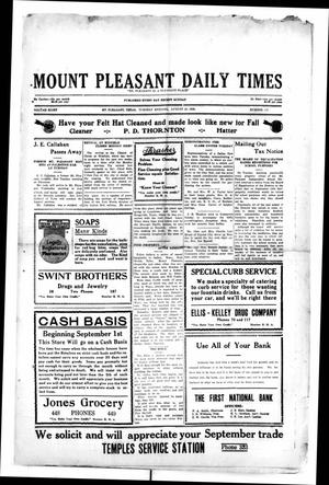 Primary view of object titled 'Mount Pleasant Daily Times (Mount Pleasant, Tex.), Vol. 8, No. 149, Ed. 1 Tuesday, August 31, 1926'.
