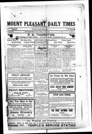 Primary view of object titled 'Mount Pleasant Daily Times (Mount Pleasant, Tex.), Vol. 8, No. 120, Ed. 1 Monday, July 26, 1926'.