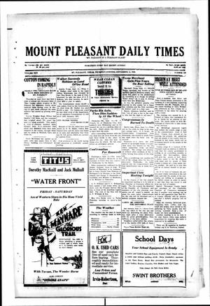 Primary view of object titled 'Mount Pleasant Daily Times (Mount Pleasant, Tex.), Vol. 10, No. 159, Ed. 1 Thursday, September 12, 1929'.