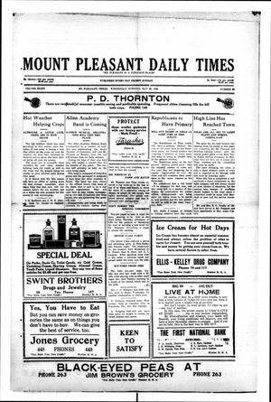 Primary view of object titled 'Mount Pleasant Daily Times (Mount Pleasant, Tex.), Vol. 8, No. 69, Ed. 1 Wednesday, May 26, 1926'.