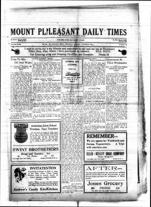 Primary view of object titled 'Mount Pleasant Daily Times (Mount Pleasant, Tex.), Vol. 8, No. 186, Ed. 1 Wednesday, October 13, 1926'.