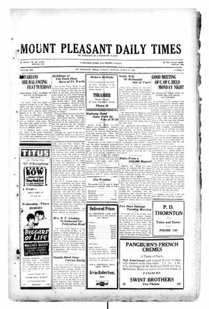 Primary view of object titled 'Mount Pleasant Daily Times (Mount Pleasant, Tex.), Vol. 10, No. 4, Ed. 1 Tuesday, March 12, 1929'.