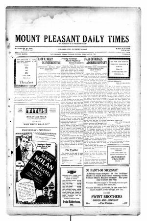 Primary view of object titled 'Mount Pleasant Daily Times (Mount Pleasant, Tex.), Vol. 11, No. 291, Ed. 1 Tuesday, February 25, 1930'.