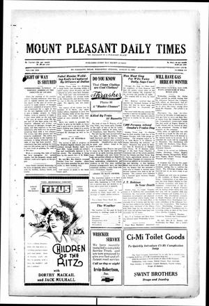 Primary view of object titled 'Mount Pleasant Daily Times (Mount Pleasant, Tex.), Vol. 10, No. 134, Ed. 1 Wednesday, August 14, 1929'.
