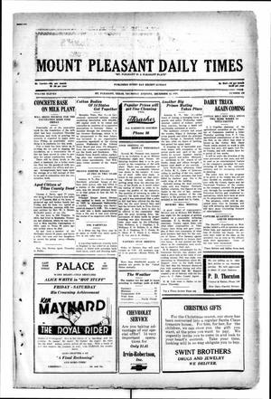Primary view of object titled 'Mount Pleasant Daily Times (Mount Pleasant, Tex.), Vol. 11, No. 239, Ed. 1 Thursday, December 12, 1929'.