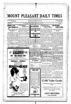 Primary view of object titled 'Mount Pleasant Daily Times (Mount Pleasant, Tex.), Vol. 10, No. 121, Ed. 1 Tuesday, July 30, 1929'.