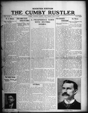 Primary view of object titled 'The Cumby Rustler. (Cumby, Tex.), Vol. 25, No. 14, Ed. 2 Friday, July 14, 1916'.