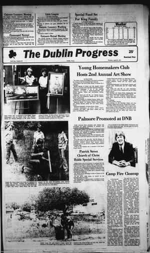 Primary view of object titled 'The Dublin Progress (Dublin, Tex.), Vol. 93, No. 39, Ed. 1 Thursday, April 30, 1981'.