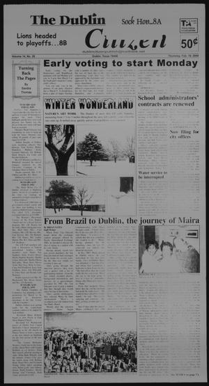 Primary view of object titled 'The Dublin Citizen (Dublin, Tex.), Vol. 14, No. 25, Ed. 1 Thursday, February 19, 2004'.