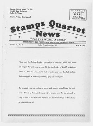 Primary view of object titled 'Stamps Quartet News (Dallas, Tex.), Vol. 15, No. 3, Ed. 1 Tuesday, December 1, 1959'.
