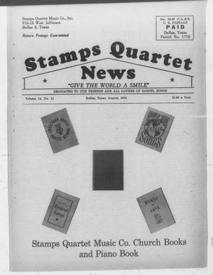 Primary view of object titled 'Stamps Quartet News (Dallas, Tex.), Vol. 14, No. 12, Ed. 1 Saturday, August 1, 1959'.