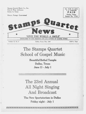 Primary view of object titled 'Stamps Quartet News (Dallas, Tex.), Vol. 15, No. 6, Ed. 1 Sunday, May 1, 1960'.
