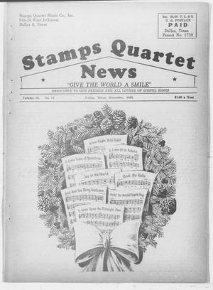 Primary view of object titled 'Stamps Quartet News (Dallas, Tex.), Vol. 18, No. 12, Ed. 1 Sunday, December 1, 1963'.