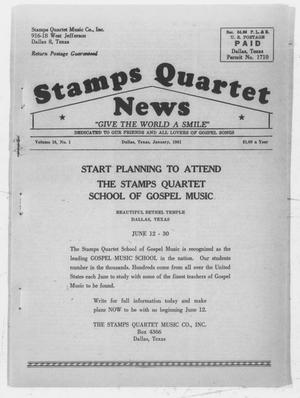 Primary view of object titled 'Stamps Quartet News (Dallas, Tex.), Vol. 16, No. 1, Ed. 1 Sunday, January 1, 1961'.