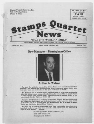 Stamps Quartet News (Dallas, Tex.), Vol. 18, No. 2, Ed. 1 Friday, February 1, 1963
