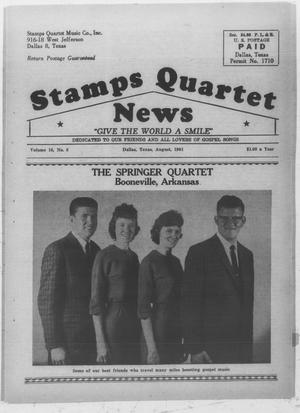 Primary view of object titled 'Stamps Quartet News (Dallas, Tex.), Vol. 16, No. 8, Ed. 1 Tuesday, August 1, 1961'.