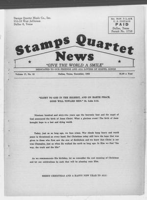 Primary view of object titled 'Stamps Quartet News (Dallas, Tex.), Vol. 17, No. 12, Ed. 1 Saturday, December 1, 1962'.